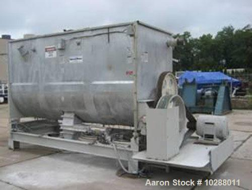 "Used-Marion 200 Cubic Foot Paddle Blender, Model 4140. Carbon steel construction. Trough measures 54"" wide x 12' long, 8.5' ..."