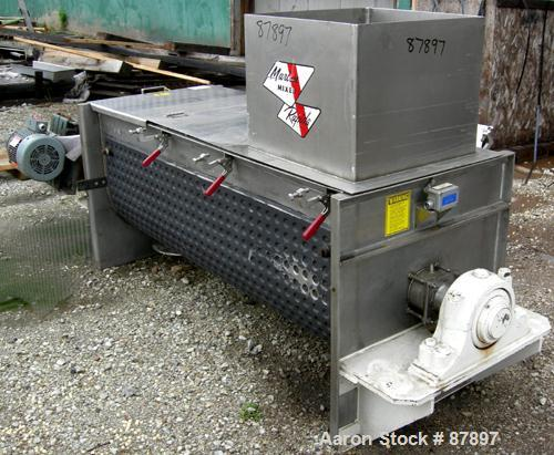 Used- Stainless Steel Marion Continuous Paddle Mixer, model C2472