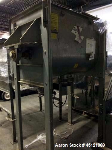 """Used- Marion Paddle Mixer, Model FP2748, 15 cu ft working capacity. Stainless steel construction. Stands 7' 3"""" tall, 3' wide..."""