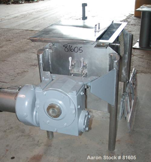 "USED: Marion paddle mixer, model FPS1824. 4 cu ft working capacity, 304 stainless steel. Non-jacketed trough 18"" wide x 24"" ..."