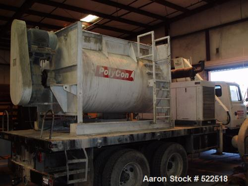 "USED: Marion model HPC-5496 semi-cylindrical batch mixer, carbon steel. 54"" diameter x 8'0"", 101 cubic foot mixing capacity...."