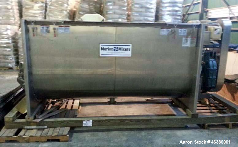 "Unused - Marion Batch Mixer, Model HPS-54120. 166 cu ft working capacity. All stainless steel construction. 54"" Diameter x 1..."