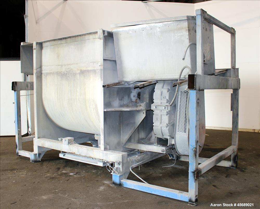 Used- Marion Paddle Mixer, Model HPS6672, Approximate 160 Cubic Feet Working Cap