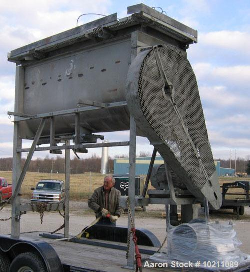 Used-60 Cubic Foot Marion Mixer Model S-3696 With Drive. Carbon steel unit complete with 20 hp chain drive system, stand, co...