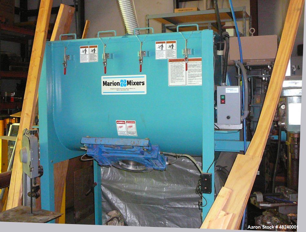 "Used- Marion Paddle Mixer, Model SPC-2748. Carbon steel. 15 cubic foot capacity. 27"" inside diameter x 48"" long. 7-ga. troug..."