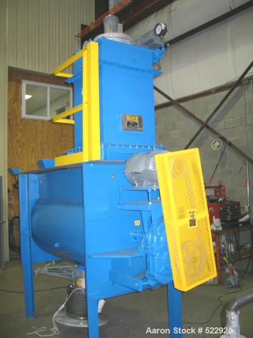 "USED: 34 cubic foot Marion paddle mixer, carbon steel construction.Semi-cylindrical design, model SPC 3672. 36"" diameter x 6..."