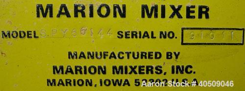 Used- Marion Semi-Cylindrical Paddle Mixer, Model SPY66144, approximately 300 cubic feet working capacity, 304 stainless ste...