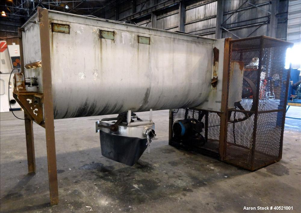 Used- Stainless Steel Marion Paddle Mixer, approximately 109 cubic feet working