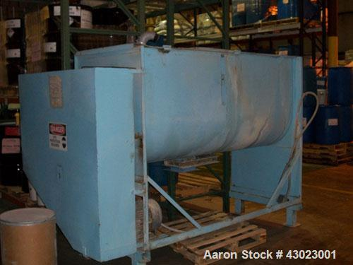 """Used-Marion Paddle Mixer, approximate 64 cubic foot working capacity, carbon steel. Trough is approximately 36"""" wide x 96"""" l..."""
