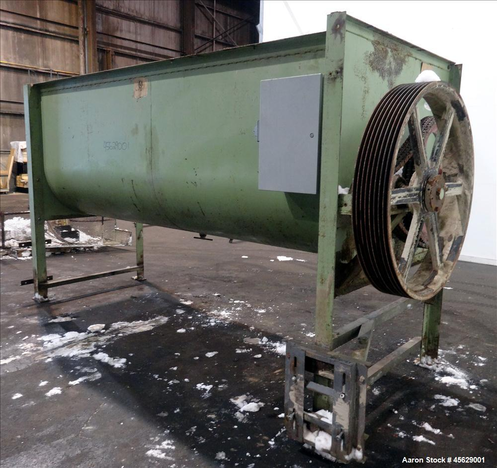 "Used- Marion Paddle Mixer, Approximately 200 Cubic Feet, Carbon Steel. Non-jacketed trough 144"" long x 52"" wide x 50"" deep. ..."