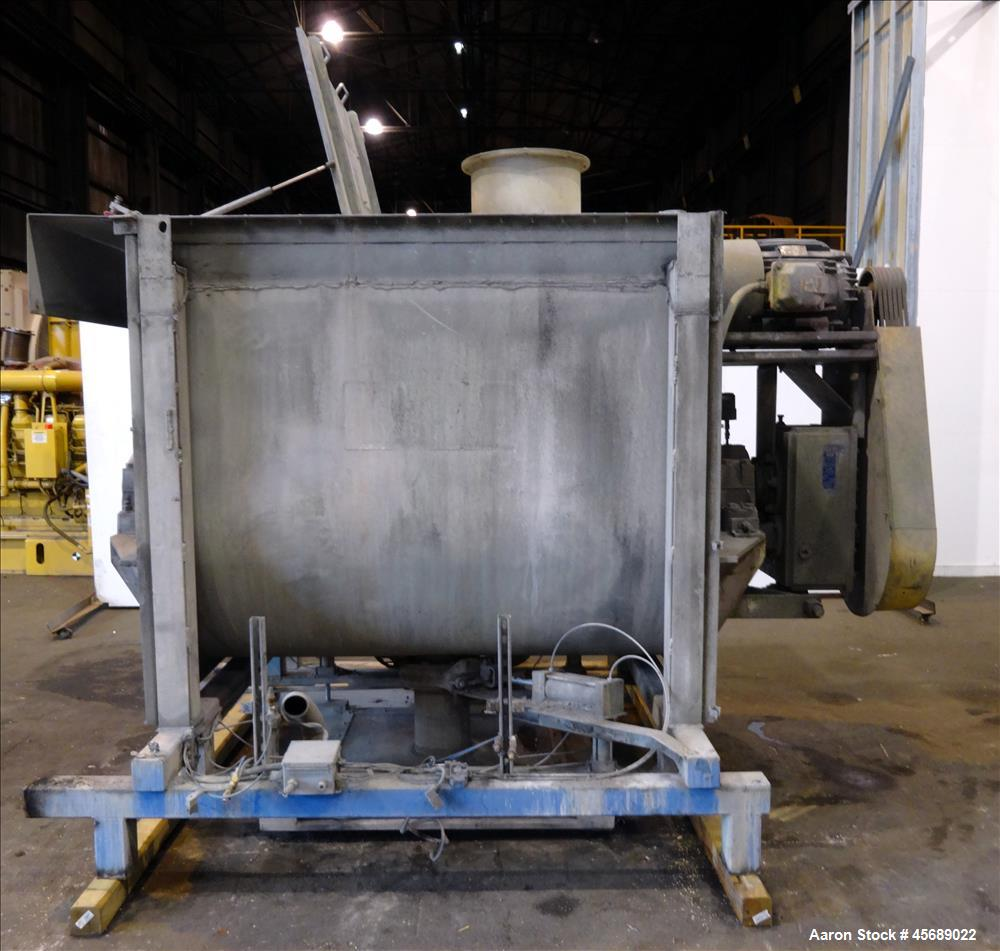 Used- Marion Paddle Mixer, 304 Stainless Steel. Approximate 109 cubic feet/500 Pound Working Capacity. Non-jacketed tough ap...