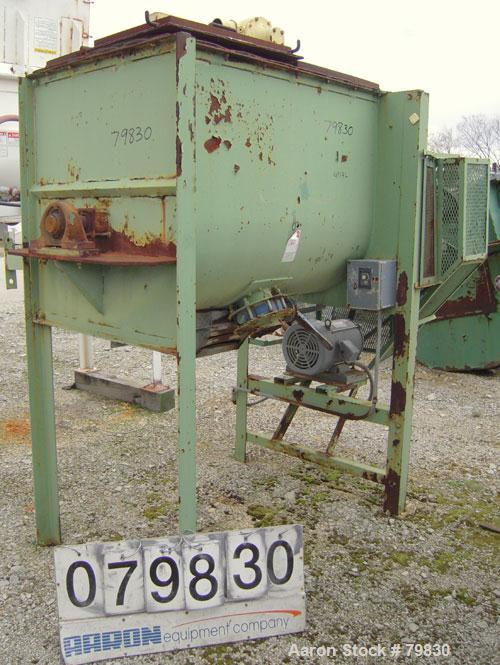 Used- Marion Paddle Mixer, Approximately 17 Cubic Foot Working Capacity, Carbon Steel.Non-jacketed trough 26 1/2'' wide x 48...