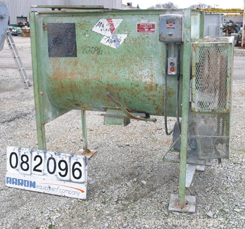 """USED: Marion Paddle Mixer, 18 cubic feet working capacity, carbon steel. Non-jacketed trough 27"""" wide x 48"""" long x 35"""" deep,..."""