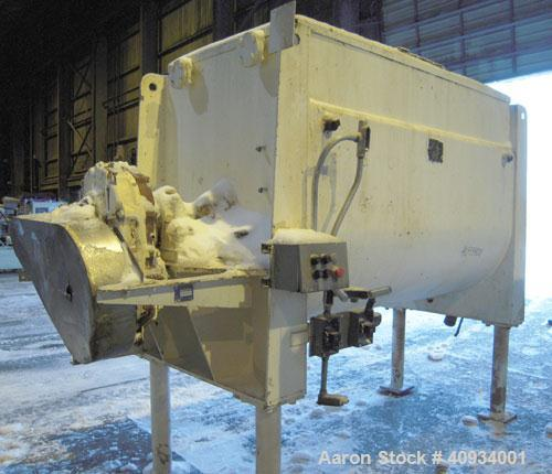 Used- McCarter Corp Chocolate Mixer, approximately 76 cubic feet (560 gallon), carbon steel. Jacketed trough approximately 4...