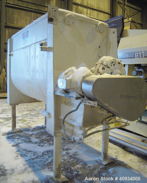 Used- Carbon Steel McCarter Corp Chocolate Mixer, approximately 76 cubic feet (560 gallon)