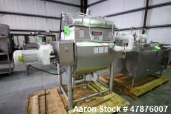 Used-APV Crepaco Blender.  Aprox. 20 Cubic Ft., Jacketed Trough, Dual Wing Mixing Blade, 75 PSI @ 350 F, -20 F @ 75 PSI, Spr...