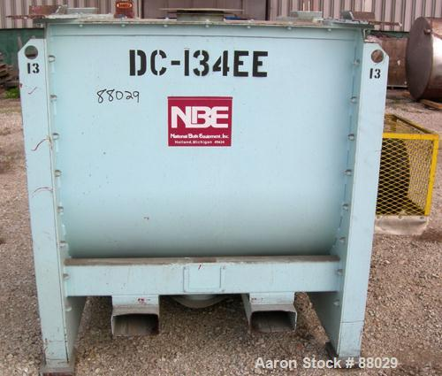 "Used- National Bulk Equipment Paddle Mixer, model 25-400SP, 44cubic feet, carbon steel. Non-jacketed trough 42-1/2"" wide x 4..."
