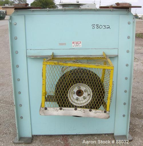 "Used- National Bulk Equipment Paddle Mixer, model 25-400SP, 44 cubic feet, carbon steel. Non-jacketed trough 42-1/2"" wide x ..."