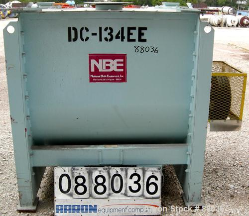 """Used- National Bulk Equipment Paddle Mixer, model 25-400SP, 44 cubic feet, carbon steel. Non-jacketed trough 42-1/2"""" wide x ..."""