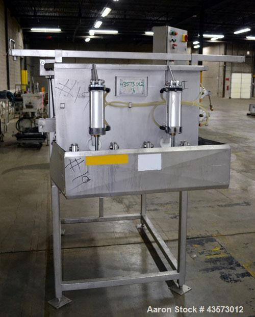 Used- PSSI Twin Shaft Paddle Mixer, Approximate 33 Cubic Feet Working Capacity, 304 Stainless Steel. Non-jacketed trough 33-...