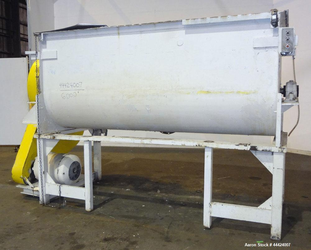 Used- Stainless Steel Paddle Mixer, Approximately 100 Cubic Feet