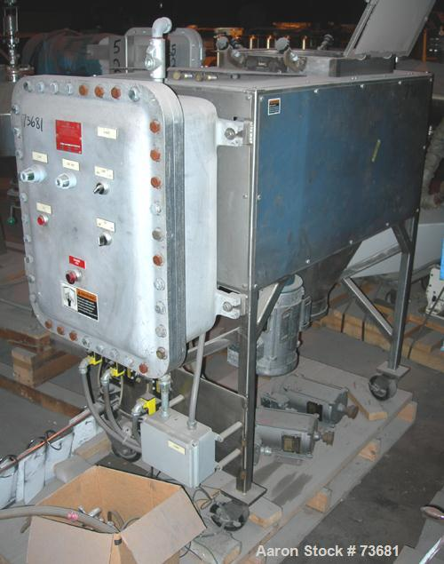 Used- Paul O Abbe/Forberg Twin Shaft Fluidizer, Model AF-20. (0.7) Cubic foot working capacity, 1 cubic foot total, 304 stai...
