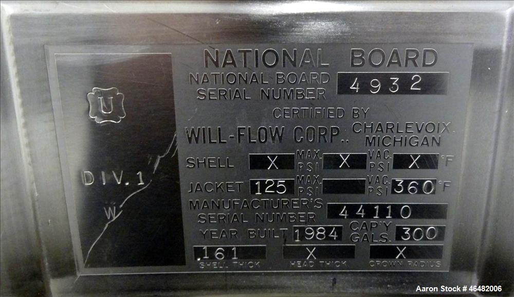 Used- Perma-San 300 Gallon Paddle Mixer