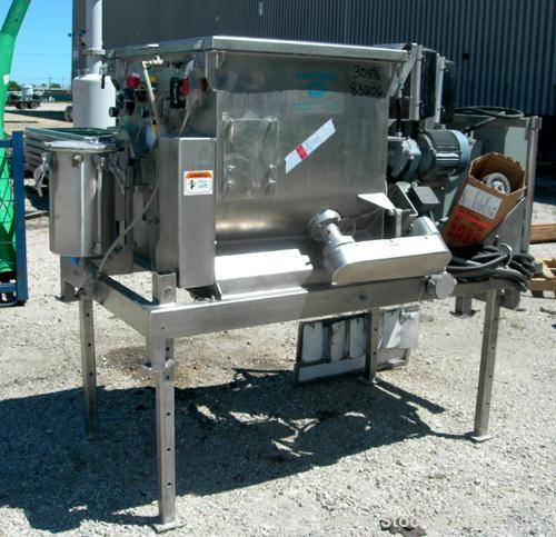 Used: Stainless Steel Phlauer Premium Twin Shaft Fluidized Zone Mixer, model AJSP182-4DPSW, 6 cubic feet working capacity