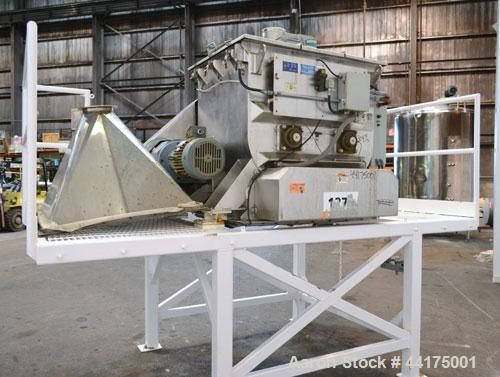Used- Stainless Steel Phlauer ( A&J Mixing ) Premium Fluidizing Mixer, Model F-250S