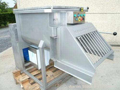 Unused-Scansteel Twin Shaft Paddle Mixer, stainless steel. 14 cubic feet (400 liter) capacity, with safety lid, adjustable s...