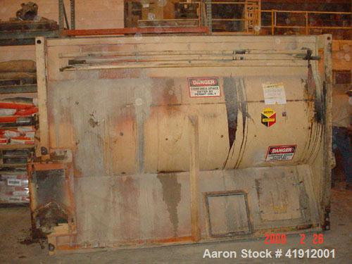 "Used-Scott Paddle/Ribbon Mixer, Model SHRM6010. Carbon steel, 200 roller chain drive, single air cylinder dropgate, 5'6"" wid..."