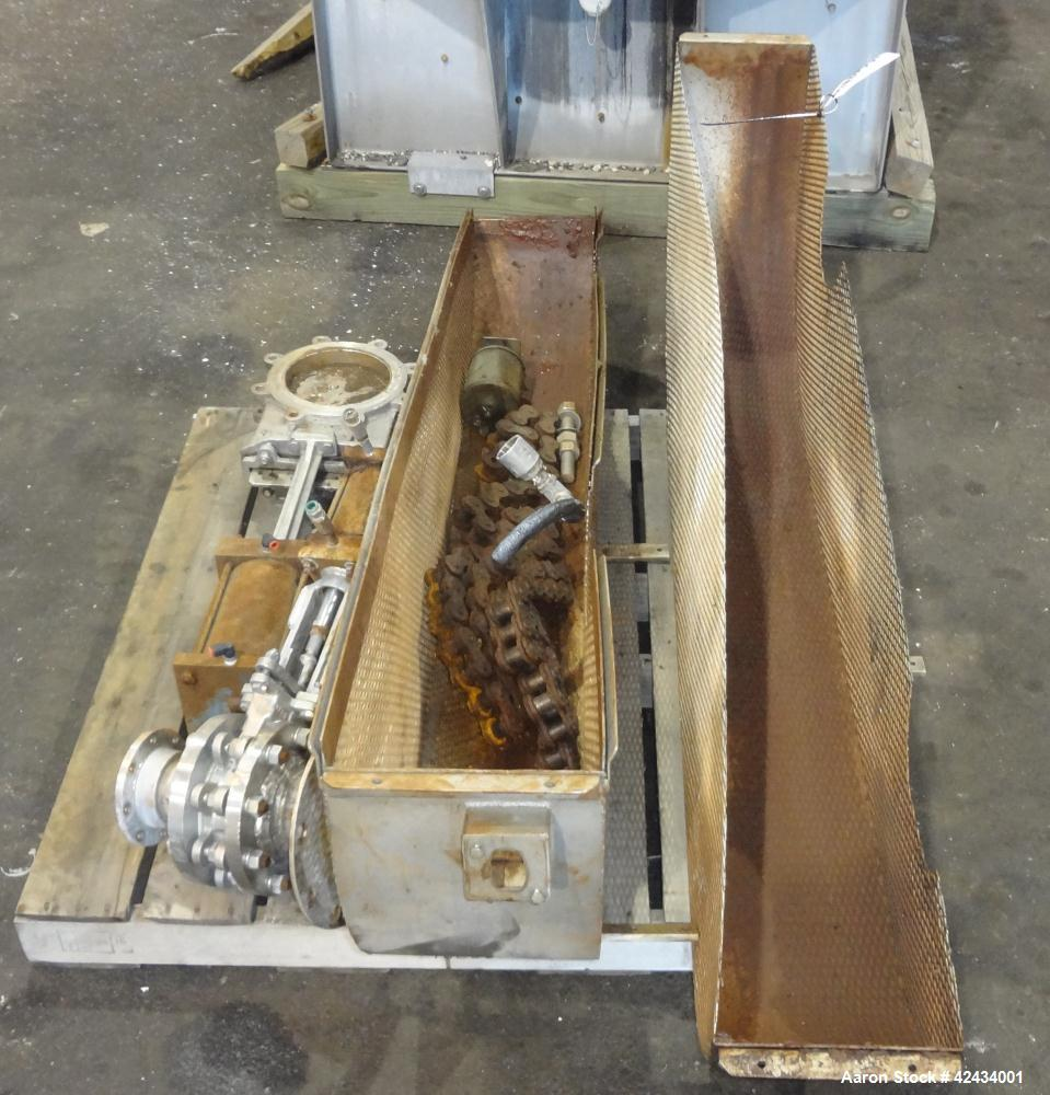 Used- Scott Equipment Paddle Mixer, 100 Cubic Feet Capacity, 304 Stainless Steel