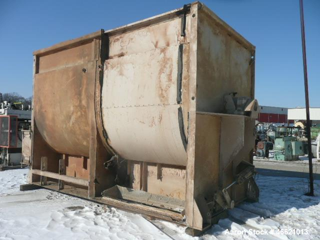 Used- Scott Ribbon Paddle Blender, Model #GHPRM9615, 600 Cubic Foot Working Capa