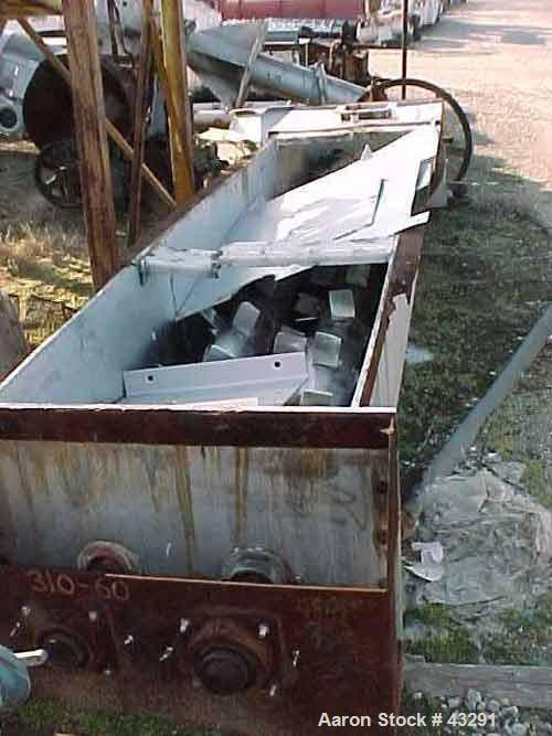 "Used- Sprout Waldron Twin Shaft Paddle Mixer, 70 Cubic Feet Capacity, Stainless Steel . Trough 30-1/2"" wide x 24"" deep x 168..."