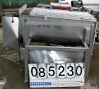 USED: Twin Shaft Paddle Mixer, 15 cubic feet working capacity, 304 stainless steel. Non-jacketed trough 25