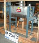 USED: Jaygo plow mixer, 5 cu ft, model JRB5, 304 stainless steel. Non-jacketed trough 17