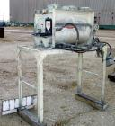 USED: Kelly Duplex paddle mixer, model 193, 6 cubic feet working capacity, 9 cubic feet total, carbon steel. Jacketed trough...