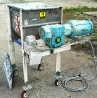 Used- Marion Paddle Mixer, Model 6001. 3.5 cubic feet working capacity (5 total), 304 stainless steel. Non-jacketed trough 1...