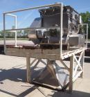 Used- Phlauer Fluidized Zone Mixer, Model F-250S, 304 stainless steel, 8.8 cubic foot batch capacity. Non-jacketed trough 35...