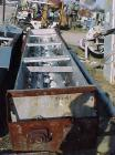 Used- Sprout Waldron Twin Shaft Paddle Mixer, 70 Cubic Feet Capacity, Stainless Steel . Trough 30-1/2