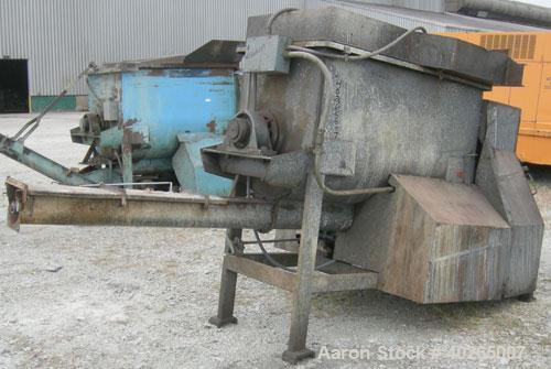 "Used- Weiler Paddle Mixer, Model 80-010, Approximately 27 Cubic Feet Capacity, Carbon Steel. Non-jacketed trough 30"" wide x ..."