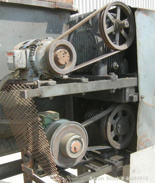 """Used- Weiler Paddle Mixer, Approximately 48 Cubic Foot Capacity, Carbon Steel. Trough measures 36"""" wide x 72"""" long x 50"""" dee..."""