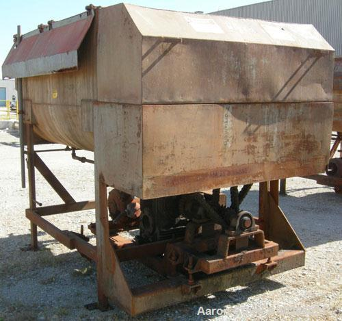 "Used- Twin Shaft Paddle Mixer, approximately 188 cubic feet working capacity, 316 stainless steel.Jacketed trough 66"" wide x..."