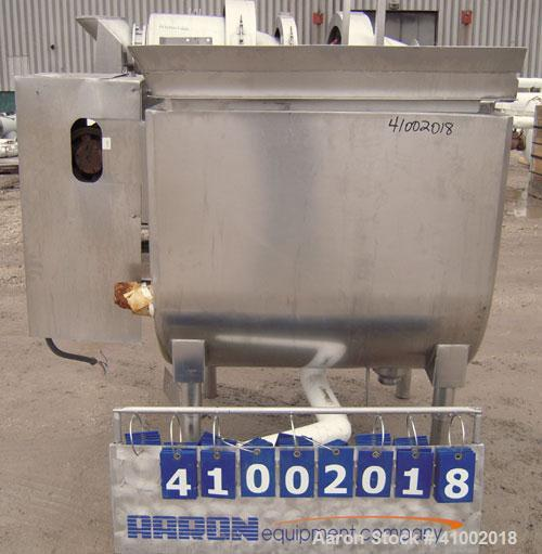 "Used- Will Flow Paddle Blender, approximately 20 cubic feet (150 gallon), 316 stainless steel. 30"" wide x 38"" long x 36"" dee..."