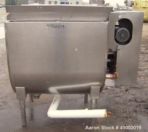 Used- Stainless Steel Will Flow Paddle Blender, approximately 20 cubic feet (150 gallon)
