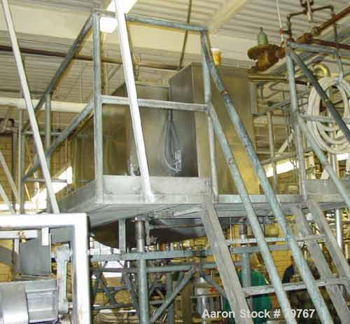 """USED: Willflow paddle blender, approximate total capacity 66.8 cubic feet (500 gallon). Jacketed trough 42"""" wide x 75"""" long ..."""