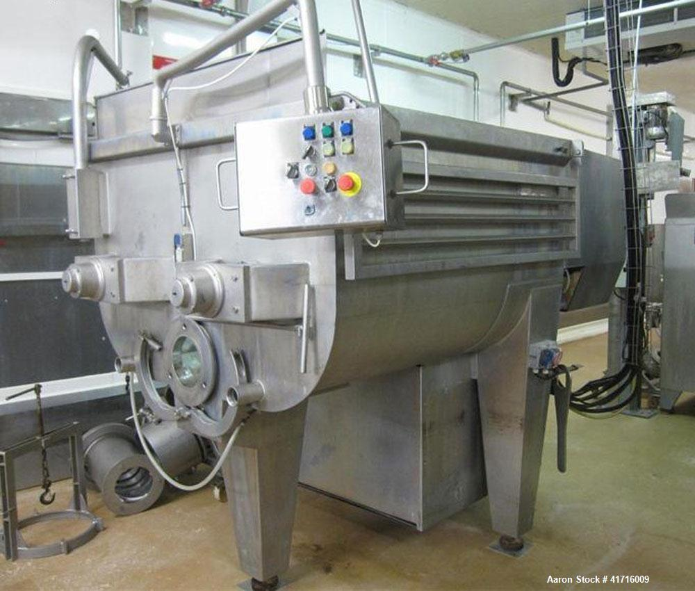 "Used-Wolfking Type TSMG 1500/250 Twin Shaft Paddle Mixer.  Maximum capacity 52 cubic feet (1500 liters). Head 9.8"" (250mm) w..."