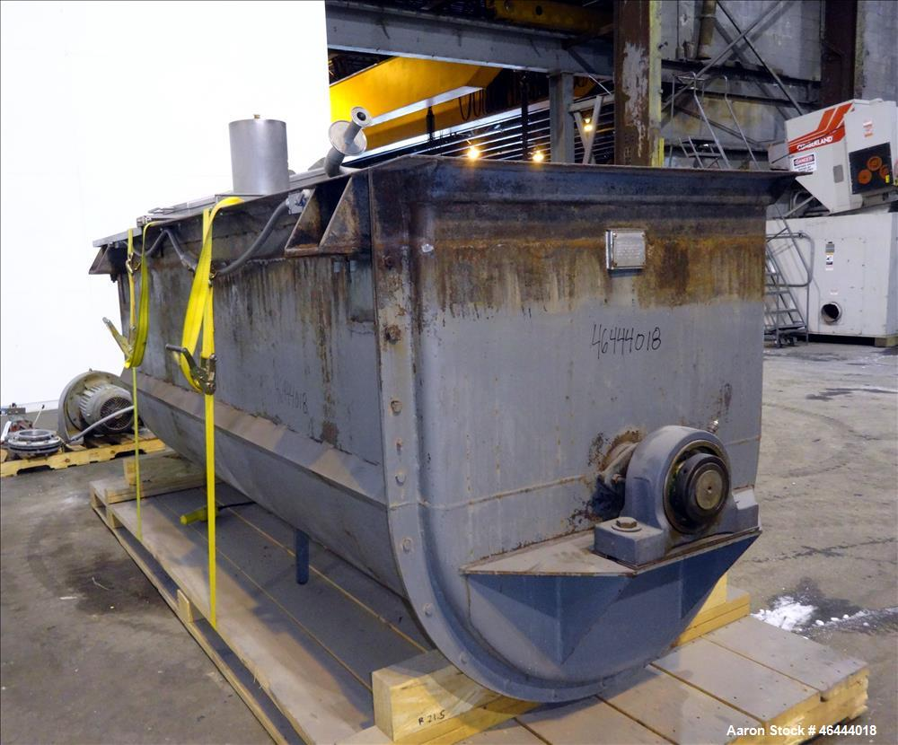 Used- Young Machinery Paddle & Ribbon Blender, Size 12 42-10-0, Approximate 110 Cubic Feet Working Capacity, Carbon Steel. N...