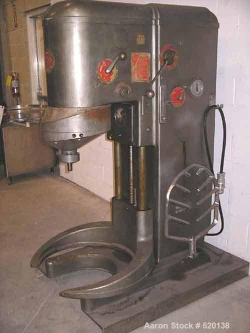 USED: AMF 160 quart Glen mixer, model 74-73. Unit comes complete withone stainless steel mixing bowl, bowl lift and beater. ...