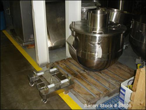 USED: AMF Glen 340 quart mixer bowl only, stainless steel. Includes cart.